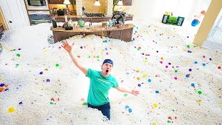 FILLING MY ENTIRE HOUSE WITH PACKING PEANUTS!