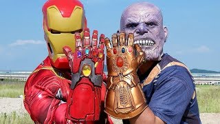 Endgame Iron Man Gauntlet VS Thanos Infinity Gauntlet