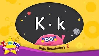 Kids vocabulary compilation ver.2 - Words starting with K, k - Learn English for kids