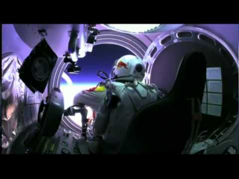 Felix Baumgartner Space Jump from 128000 feet World Record!