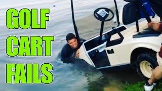 Golf Cart Fails   Golf Cart Crashes