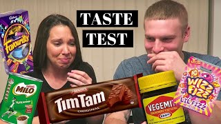 Americans try Australian snacks