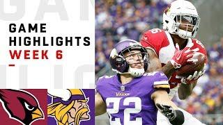 Cardinals vs. Vikings Week 6 Highlights | NFL 2018