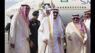 الملك سلمان يصل الرياض استعدادا لاستقبال ترامب     -