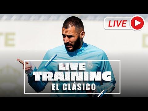 El Clásico   Training before Real Madrid-Barcelona!