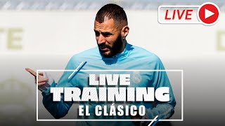 El Clásico | Training before Real Madrid-Barcelona!