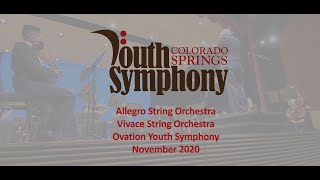 CSYSA Fall Concert 2020 - Allegro, Vivace, Percussion, & Ovation