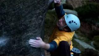 Impressive climbing move