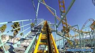 UNDERTOW Spinning Roller Coaster POV Santa Cruz Beach Boardwalk