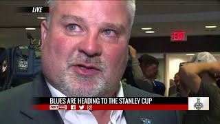 Kelly Chase emotional talking what Blues win means for St. Louis