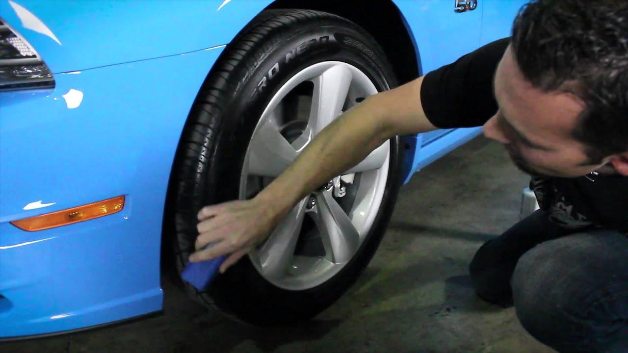 How To Apply Tire Shine Chemical Guys V R P Dressing