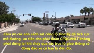 Apr 29 2017 Cảnh Sát Hoa Kỳ hộ tống CPQGVNLT