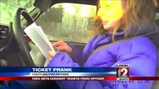 Cop pulls over Wisconsin teen to give her concert tickets