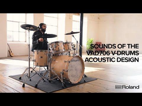 Vidéo Sounds of the Roland V-Drums Acoustic Design VAD706 (TD-50X Sound Module)
