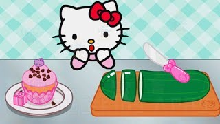 Baby Learn Cooking With Hello Kitty Lunchbox - Kids Play Fun Kitchen Game