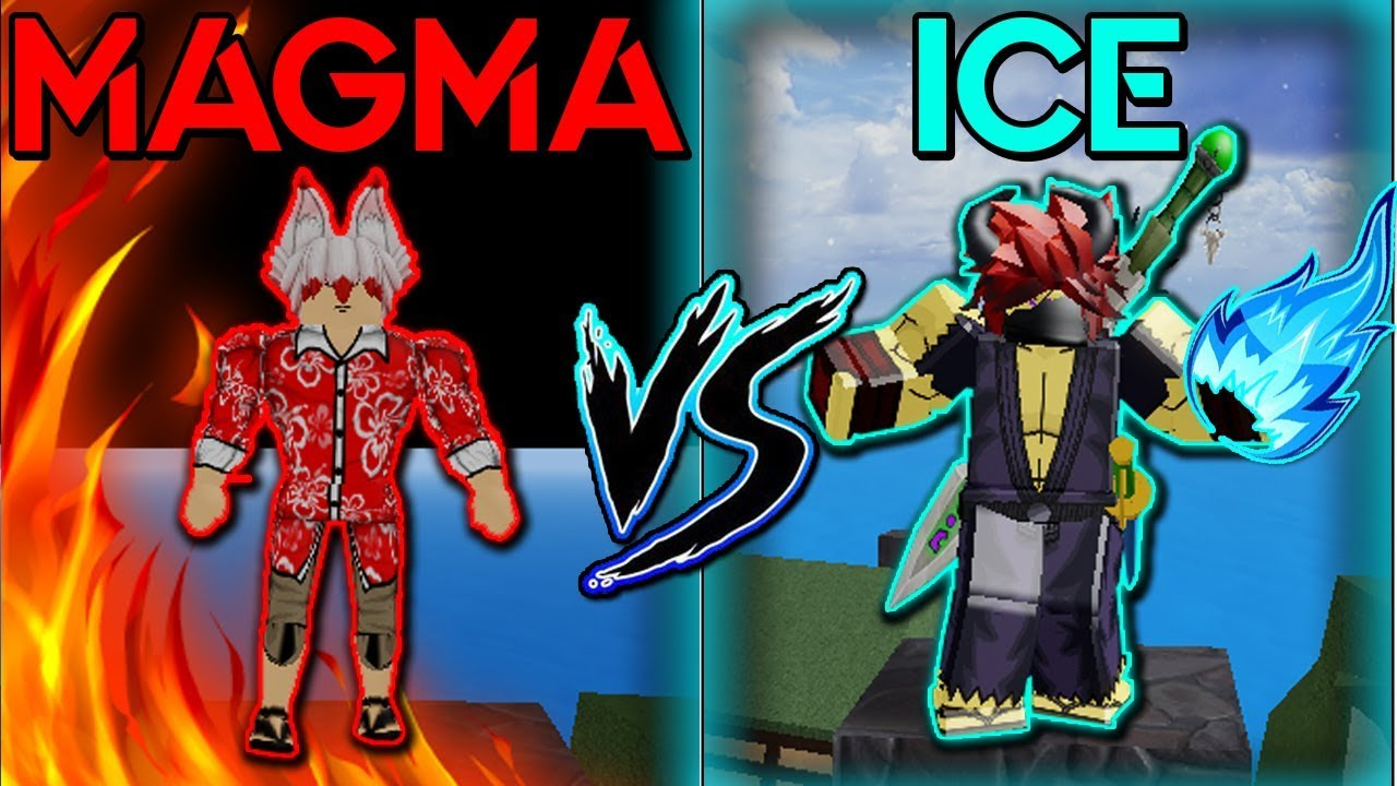 ??????? Roblox Blox Piece Max Ice Vs Magma Devilfruit Blox Piece Roblox Which Is Strongest