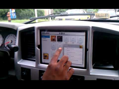 Custom Ram 1500 >> 2008 dodge RAM iPad install - YouTube