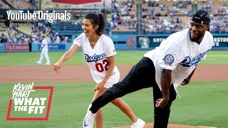 The Dodgers Train Kourtney Kardashian and Kevin Hart
