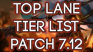 Top Lane Tier List Patch 7.12   Best Top Laners To Carry Solo Queue Patch 7.12