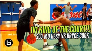 1V1 King Of The Court! Slo-Mo Hesy Vs Bryce Cook!