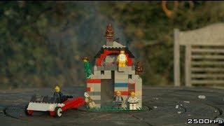 Day 3 -  Exploding Lego House - The Slow Mo Guys