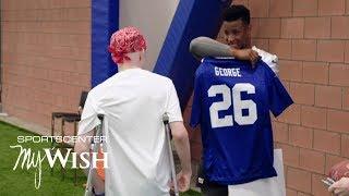 Saquon Barkley grants 15-year old Giants fan's wish | My Wish