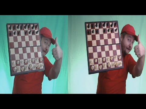 GAMES in 3D ! Chess , Checkers , Cards , Domino !( side-by-side )