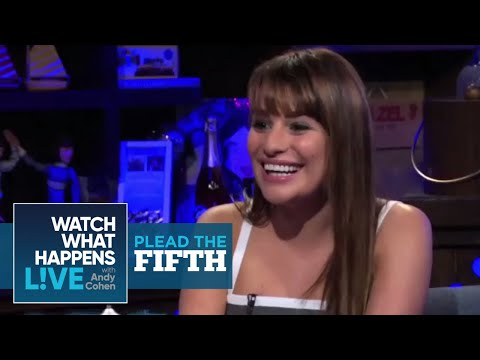 How is Matthew Morrison in Bed? - Lea Michele Pleads the Fifth | WWHL