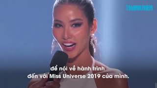 Hoàng Thùy đọc tục ngữ khi vào top 20 Miss Universe 2019