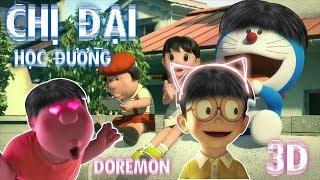 NHỮNG CHỊ ĐẠI HỌC ĐƯỜNG ( Hậu Hoàng ft Nhung Phương ) Phiên Bản Doremon3D | PTK MUZIC
