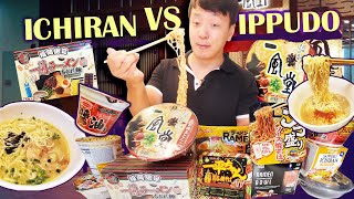 ICHIRAN vs. IPPUDO Instant Noodles! JAPANESE SUPERMARKET Instant Noodle Taste Test