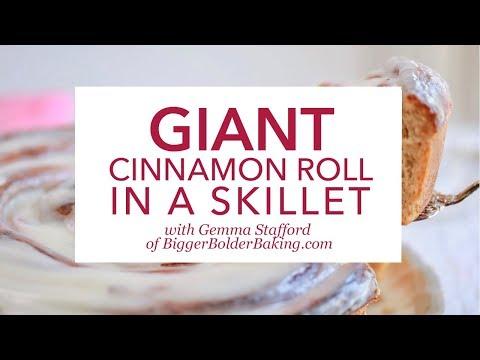 Giant Cinnamon Roll in a Skillet By Gemma Stafford