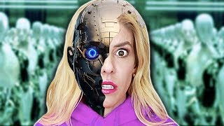 REBECCA ZAMOLO is a ROBOT in REAL Life! (DNA Quadrant Date Reveal from Game Master Ai Escape Room)