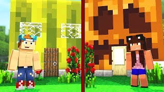 WATERMELON HOUSE VS PUMPKIN HOUSE | Minecraft House Challenge