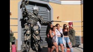 Megatron Meets The Kardashians at Universal Studios Transformers Encounter