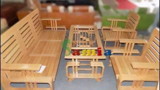 Mẫu bàn ghế gỗ phòng khách đẹp giá rẻ tại Hà Nội