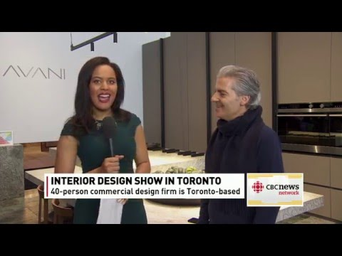 IDS16: CBC News talks modern design with AVANI Kitchens Booth designer Diego Burdi