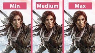 Rise of the Tomb Raider - PC Min vs. Max Részletes Grafikai Összehasonlítás @1440p