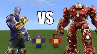 Thanos vs Iron man | Minecraft PE Avengers Infinity War