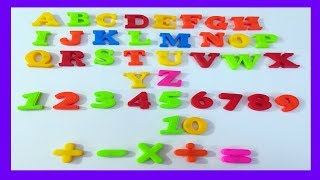 Plastic Magnet Numbers & Alphabets |Learn to Count 12345678910 & Alphabets