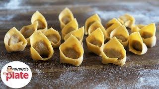 HOMEMADE TORTELLINI RECIPE   How to Make Tortellini Pasta   Italian Food Recipes