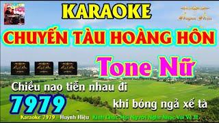 Karaoke 7979 Chuyến Tàu Hoàng Hôn Nhạc Sống Tone Nữ || Hiệu Organ Guitar 7979 || Beat Chất Lượng Cao