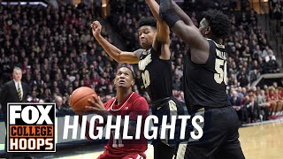 Purdue cruises past rival No. 25 Indiana 70-55 | FOX COLLEGE HOOPS HIGHLIGHTS