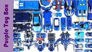 35 Blue Transformer Robot Toys Collection, Animal And Car Transformers