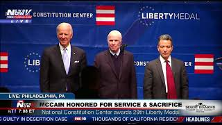 FULL EVENT: John McCain Honored With Liberty Medal (Ceremony with Joe Biden)