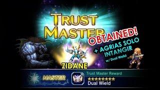 FFBE (Global) - ZIDANE TM 100%!!! [Dual-Weild] + Agrias Solo Intangir Boss Fight