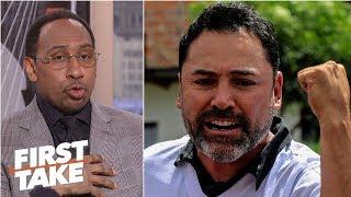 Oscar De La Hoya 'childish' for wanting to fight Dana White - Stephen A. | First Take