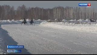 В Любинском районе состоялись проводы зимы