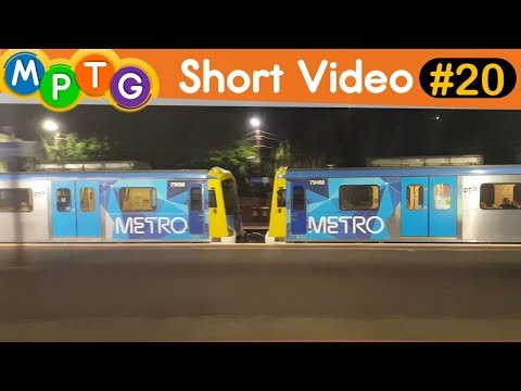 Parallel run with a Frankston bound Siemens train (Short Video #20)