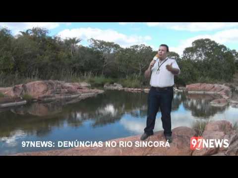 Desvios ilegais no Rio Sincorá